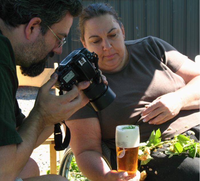 Sean and Cindy collaborate on the ulimate IPA garnish