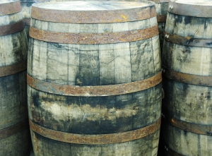Bourbon barrels for beer aging