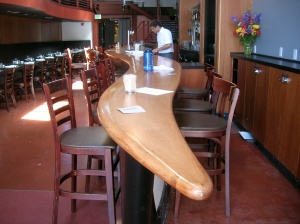 Bar section converted to a common table