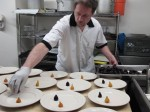 Plating for the Beer Circus dinner extravaganza
