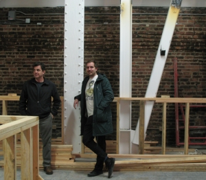 Chuck and Mikkel plot the Mikkeller bar, last November