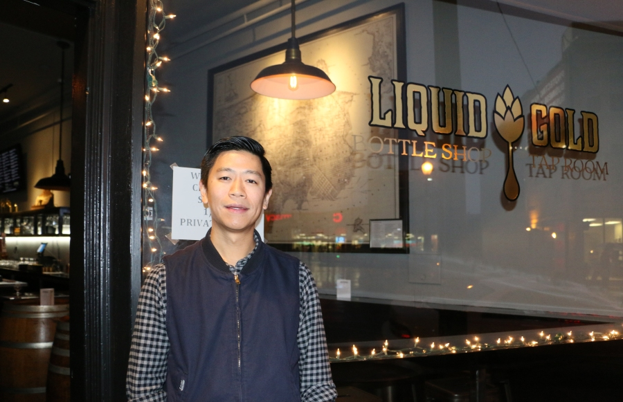 Tim Lee opened Liquid Gold Bottle Shop and Tap Room a few months ago on lower Nob Hill.