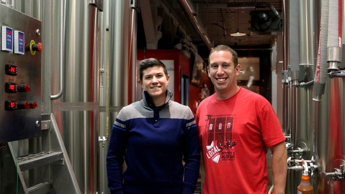 photo Co-founder Regan Long and head brewer Patrick Murphy at Local Brewing Co.