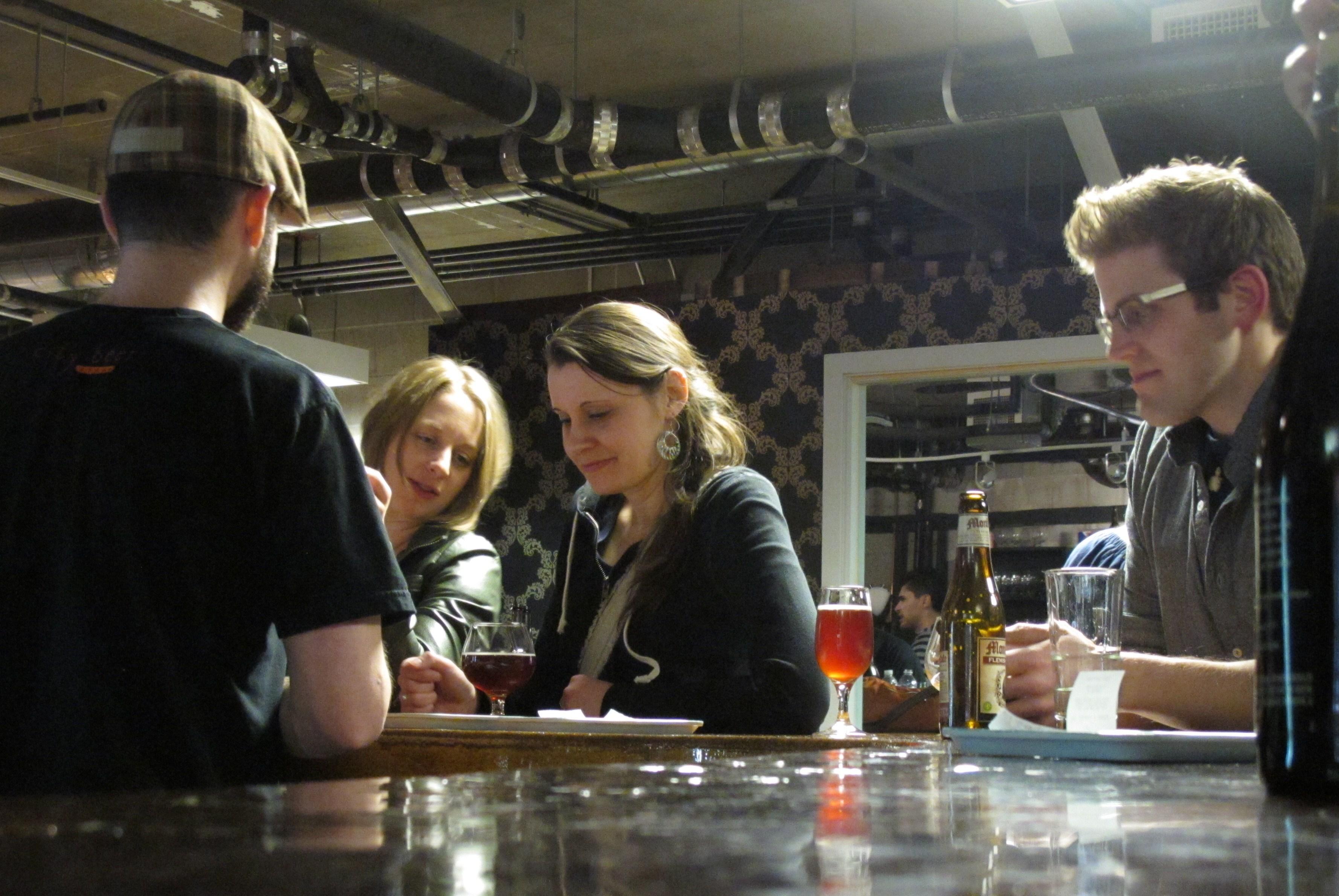 At the bar at City Beer Store in 2011